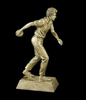 bowling trophies male statue