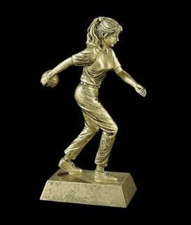 bowling trophies female statue