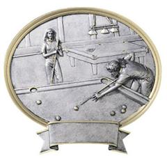 billiard trophy plaque pool