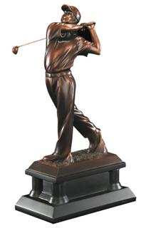 resin golf trophy