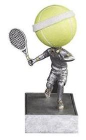 tennis trophy bobbleheads