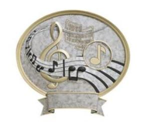 religion award -music plaque resin