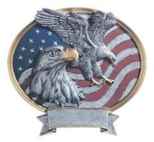 eagle patriotic plaque