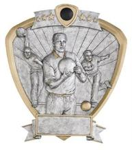 bowling trophies male shield
