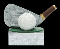 resin golf trophies color