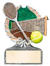 resin tennis trophies