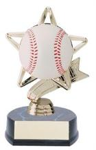 baseball trophy half ball