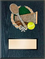 tennis trophy plaque