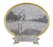 Oval Golf Trophy Female