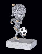 bobblehead girl youth soccer trophy