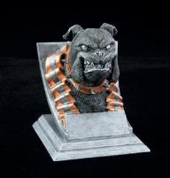 bulldog school mascot trophy