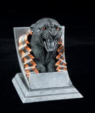 panther school mascot trophy