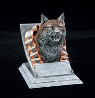 school mascot trophy bobcat