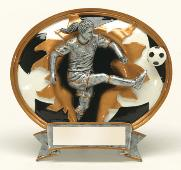 oval soccer trophies