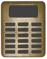 walnut perpetual recognition  corporate award plaques