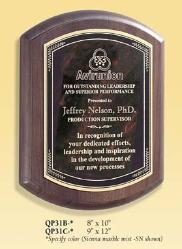 barrell walnut recognition  corporate award plaques