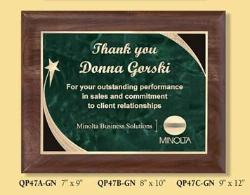 star walnut recognition  corporate award plaques