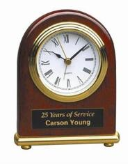 engraved clock award