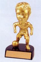 boys gold bobblehead youth  trophy