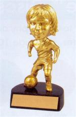 girls gold bobblehead youth  trophy