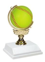 girls fastpitch softball trophies