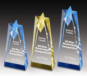 star corporate engraved acrylic award